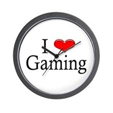 I Heart Gaming Wall Clock