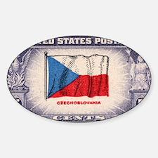 Flag of Czechoslovakia Oval Decal