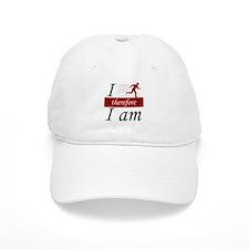 I run, therefore I am Baseball Cap