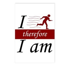 I run, therefore I am Postcards (Package of 8)