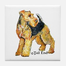 Airedale Terriers Rock! Tile Coaster