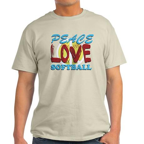 Peace Love Softball Light T-Shirt