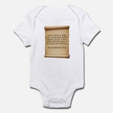 Offensive atheist saying Infant Bodysuit