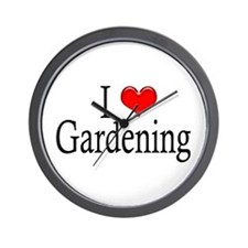 I Heart Gardening Wall Clock