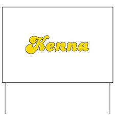 Retro Kenna (Gold) Yard Sign