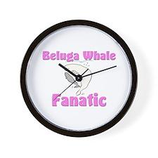 Beluga Whale Fanatic Wall Clock