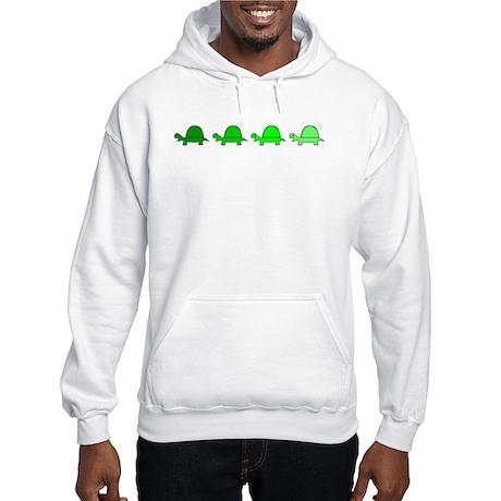 Turtles In Line Hooded Sweatshirt