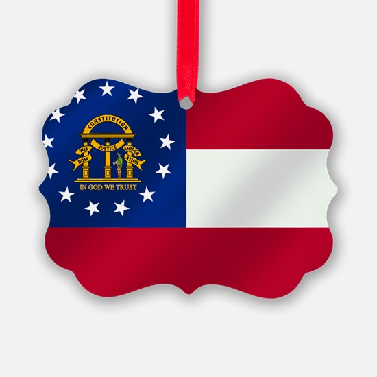 Georgia State Flag Ornament