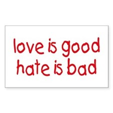 Love & Hate Rectangle Decal