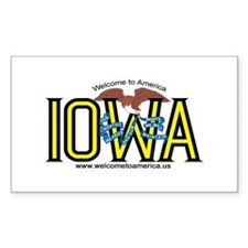 Iowa Rectangle Decal