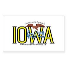 Iowa Rectangle Stickers