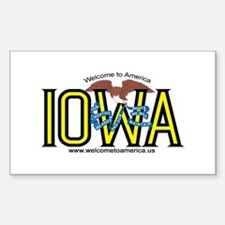 Iowa Rectangle Stickers