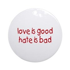 Love & Hate Keepsake (Round)