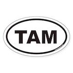 TAM Euro Oval Sticker