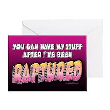 Raptured... Greeting Card