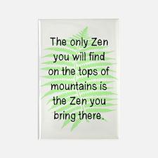 ZEN ON MOUNTAIN TOPS Rectangle Magnet (10 pack)