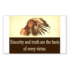 SINCERITY AND TRUTH Decal