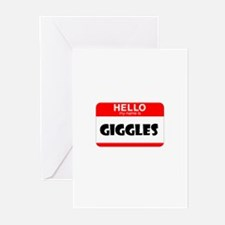 HELLO, MY NAME IS GIGGLES Greeting Cards (Pk of 10