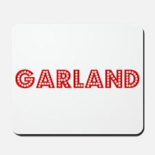 Retro Garland (Red) Mousepad