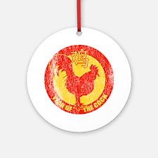Retro Year Of The Cock Ornament (Round)