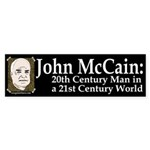 John McCain: 20th Century Man Bumper Sticker