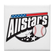Baseball All Stars Tile Coaster