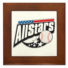Baseball All Stars Framed Tile