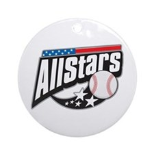 Baseball All Stars Ornament (Round)