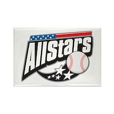 Baseball All Stars Rectangle Magnet