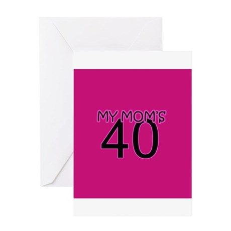 Funny 40th Birthday Gifts Greeting Card