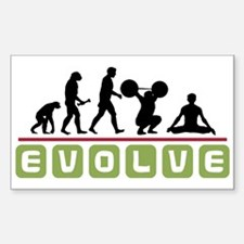 Evolve Yoga Rectangle Decal