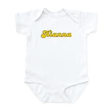 Retro Kianna (Gold) Infant Bodysuit