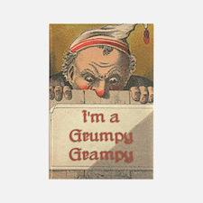 Grumpy Grampy Rectangle Magnet