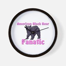 American Black Bear Fanatic Wall Clock