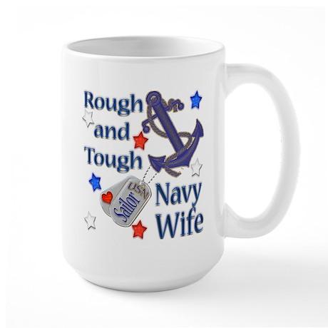 Anchor Sailor Wife Large Mug