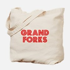 Retro Grand Forks (Red) Tote Bag