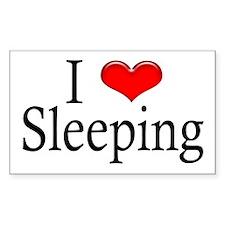 I Heart Sleeping Rectangle Decal