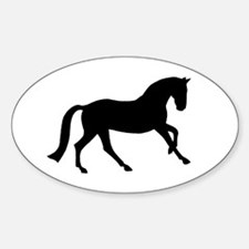 Cantering Horse Oval Decal