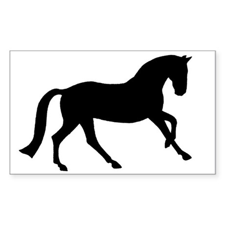 Cantering Horse Rectangle Sticker
