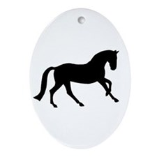 Cantering Horse Ornament (Oval)