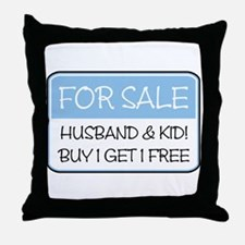 4SALE HUSB/KID (blue) Throw Pillow