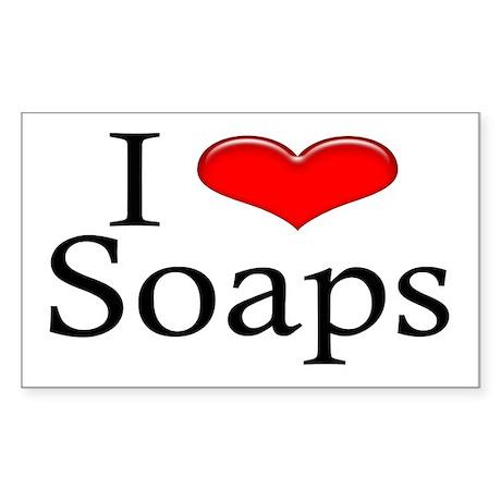 I Heart Soaps Rectangle Sticker