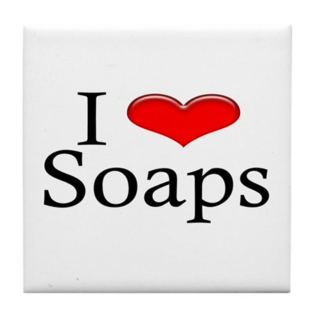 I Heart Soaps Tile Coaster