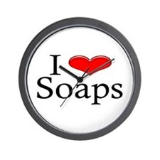 I Heart Soaps Wall Clock