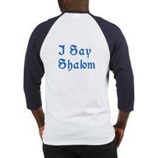Say Shalom Two Sided Jewish Baseball Jersey