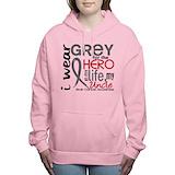 Brain cancer Hooded Sweatshirt