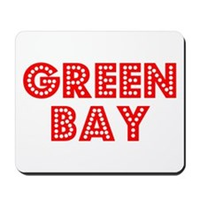 Retro Green Bay (Red) Mousepad