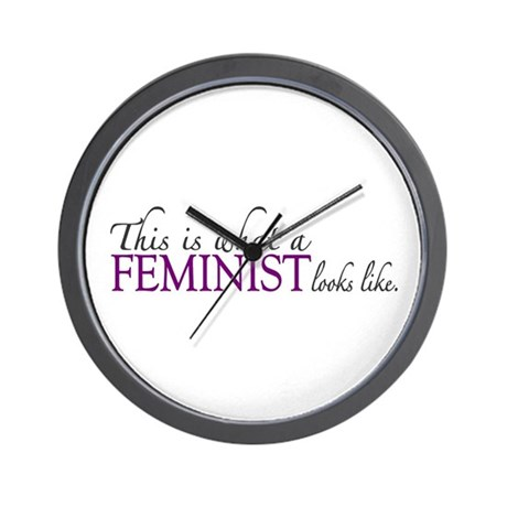 What a Feminist Looks Like Wall Clock
