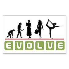 Evolve Yoga Rectangle Decal