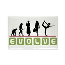 Evolve Yoga Rectangle Magnet